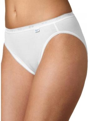 sloggi - BASIC TAI 2P – białe - gładkie, bawełniane majtki o klasycznym kroju