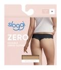 sloggi - ZERO COTTON HIPSTRING – beżowe - bezszwowe, bawełniane stringi laserowo cięte