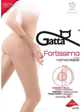 Gatta - Fortissima 15den - eleganckie rajstopy z formułą nielecących oczek