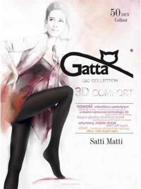 Gatta - Satti Matti 50den - eleganckie, matowe rajstopy w kolorze czarnym